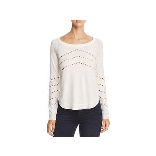 h.one Womens Sweater Pointelle Raglan