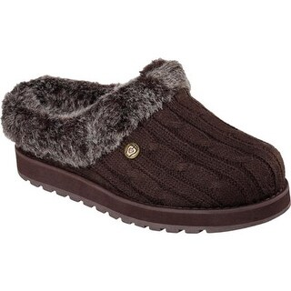 Skechers Women's BOBS Keepsakes Ice Angel Clog Slipper Chocolate