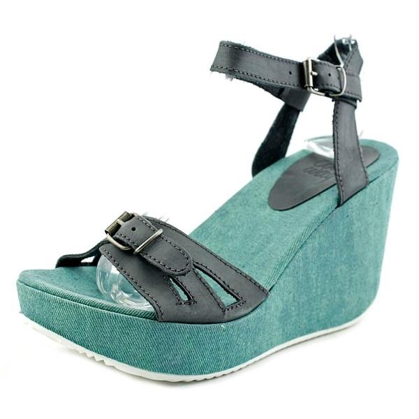 Coolway Gacela Women Open Toe Synthetic Blue Wedge Sandal