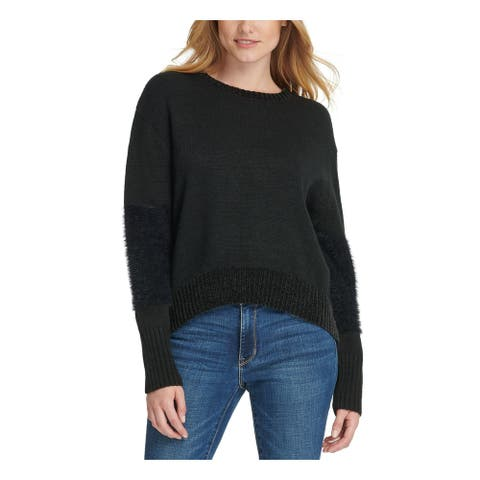 DKNY Black Long Sleeve Blouse Sweater S