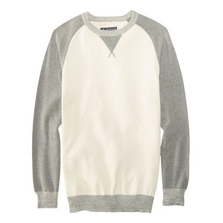 American Rag Raglan Pullover Crewneck Sweater Pewter White and Grey Small S