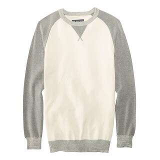 AMERICAN RAG Raglan Pullover Crewneck Sweater Pewter White & Grey Small S $49
