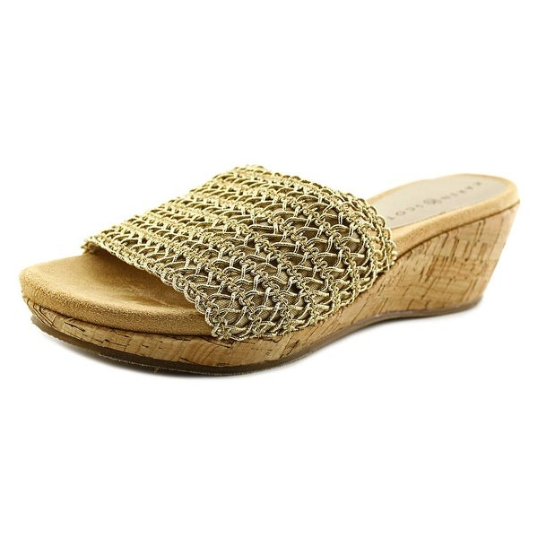 Karen Scott Frankklyn Women Gold Sandals