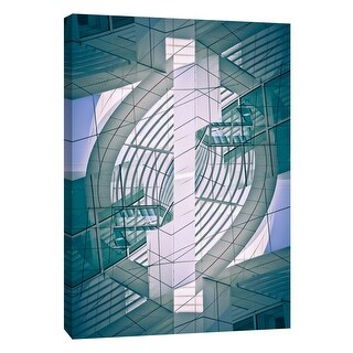 "PTM Images 9-106037  PTM Canvas Collection 10"" x 8"" - ""Folded Architecture 13"" Giclee Abstract Art Print on Canvas"