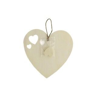 """Darice Wood Hanging 7"""" Heart Unfin"""