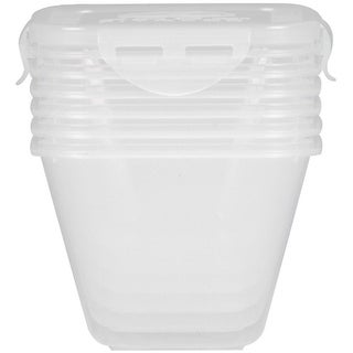 6 Pack Fitness 40 oz. SureSeal Containers 6-Pack - XL - Clear