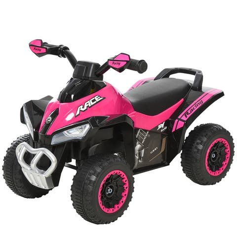 Aosom Ride-on Car 4 Wheeler for Kids with Stylish ATV Color Design, 3 Pieces of Fun Music, & a Functioning Light