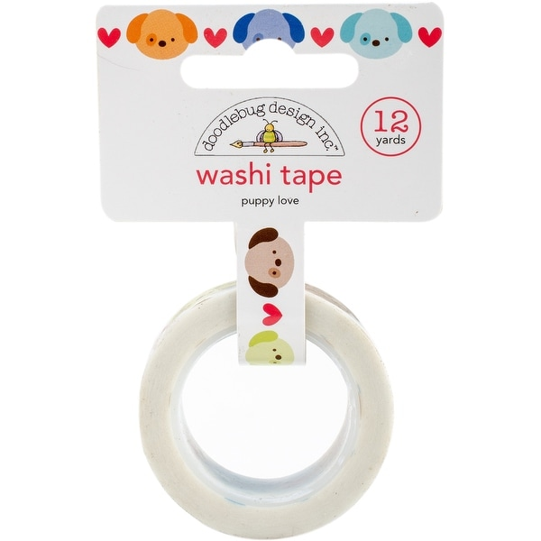 Doodlebug Washi Tape 15mmX12yd-Puppy Love