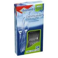 Diamond 00098 Full Size Plastic Cutlery Combo, 24 Count