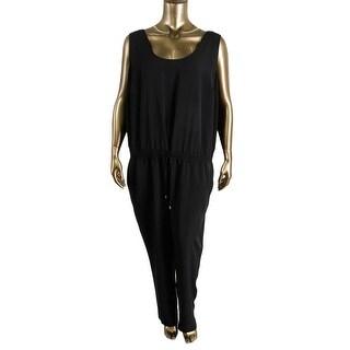 Lauren Ralph Lauren Womens Plus Blouson Sleeveless Jumpsuit - 16W