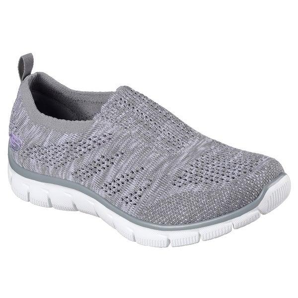 low priced 06983 e07be Skechers Sport Women  x27 s Empire Inside Look Fashion Sneaker, Grey White