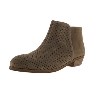 SoftWalk Womens Rocklin Booties Suede Perforated