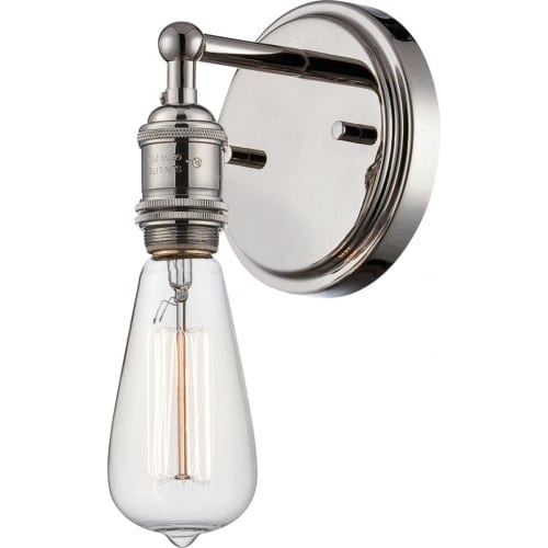 "Nuvo Lighting 60/5415 Vintage 4.875"" Width 1 Light Bathroom Sconce in Polished Nickel"