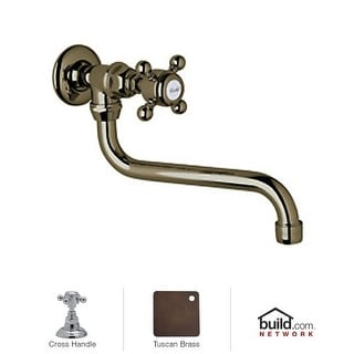 Rohl A1444XM-2 Country Kitchen Wall Mounted Pot Filler Faucet with Metal Cross Handle