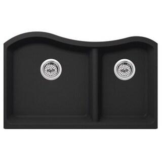 "Miseno MGR33206040 Carolina 32-1/2"" Double Basin Undermount Granite Composite Ki"