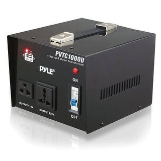 Pyle Audio PYLPVTC1000UB Pyle PVTC1000U Step Up and Step Down 1000 Watt AC 110/220 V Converter Transformer