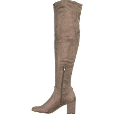 INC International Concepts Womens rikkie Suede Almond Toe Over Knee Fashion B...