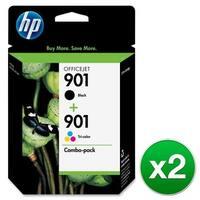 HP 901 Black & Tri-Color DesignJet Printhead-2 Cartridges (CN069FN)(2-Pack)