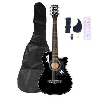 DK-38C Basswood Guitar Bag Straps Picks LCD Tuner Pickguard String Set