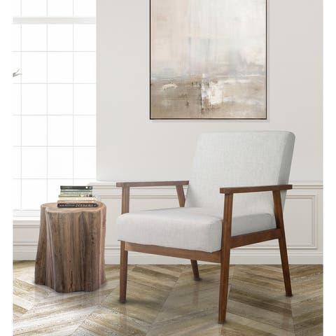 Midcentury Modern Solid Wood Armchair