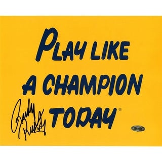 Rudy Ruettiger Play Like a Champion 8x10 Photo