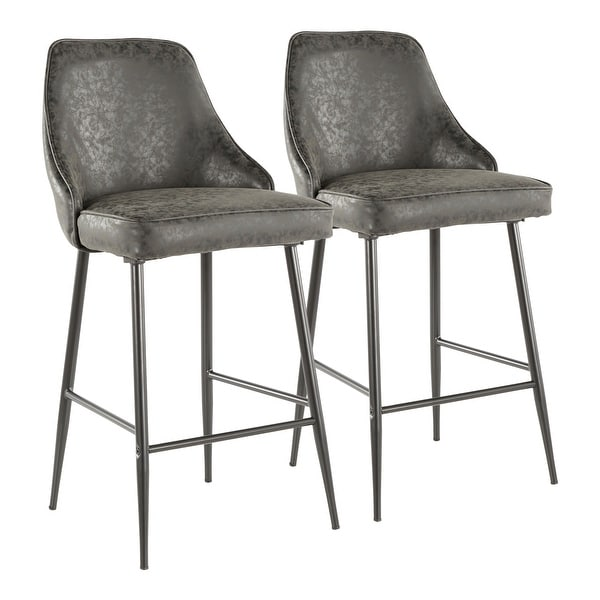 Silver Orchid Naldi Contemporary Black Counter Stool (Set of 2) - N/A. Opens flyout.