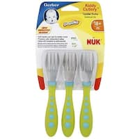 Gerber Graduates Kiddy Cutlery Toddler Forks,  Colors may vary 3 ea