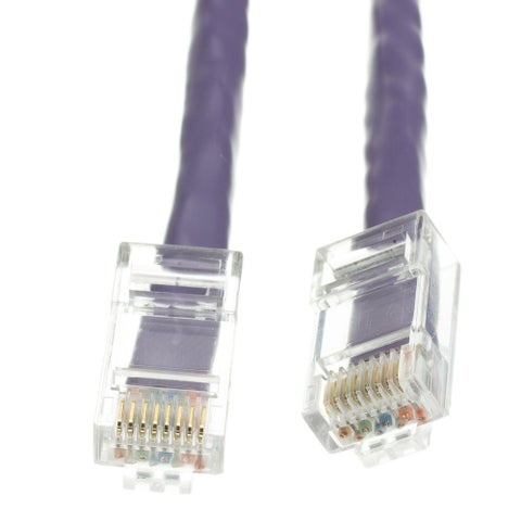 Offex Cat5e Purple Ethernet Patch Cable, Bootless, 10 foot