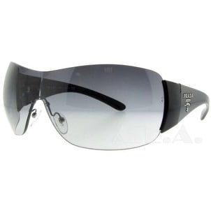PRADA Shield SPR 22M Women's 1AB-3M1 Black Grey Gradient Sunglasses - 35mm-0mm-120mm
