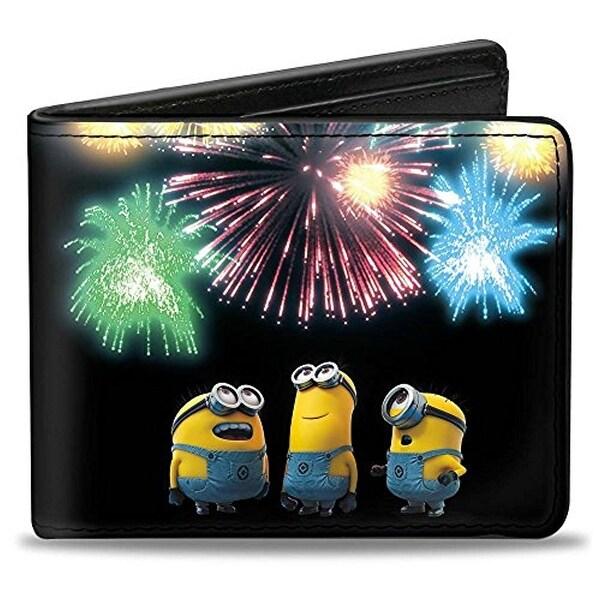 Despicable Me Movie Cute Minions Watching Fireworks Bi-Fold Wallett
