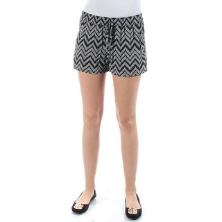 $90 BEBOP New Womens 1328 Black Chevron Cropped Short Juniors XS B+B