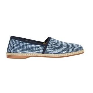 Dolce & Gabbana Dolce & Gabbana Blue Canvas Swarovski Strass Loafers