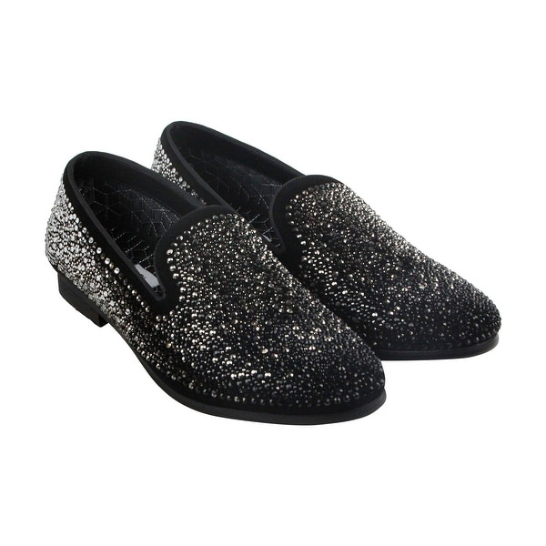 Steve Madden Climax Mens Black Suede Casual Dress Slip On Loafers Shoes