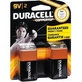 Duracell Coppertop Alkaline Batteries 9 Volt 2 Each - Thumbnail 0