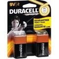Duracell Coppertop Alkaline Batteries 9 Volt 2 Each - Thumbnail 0