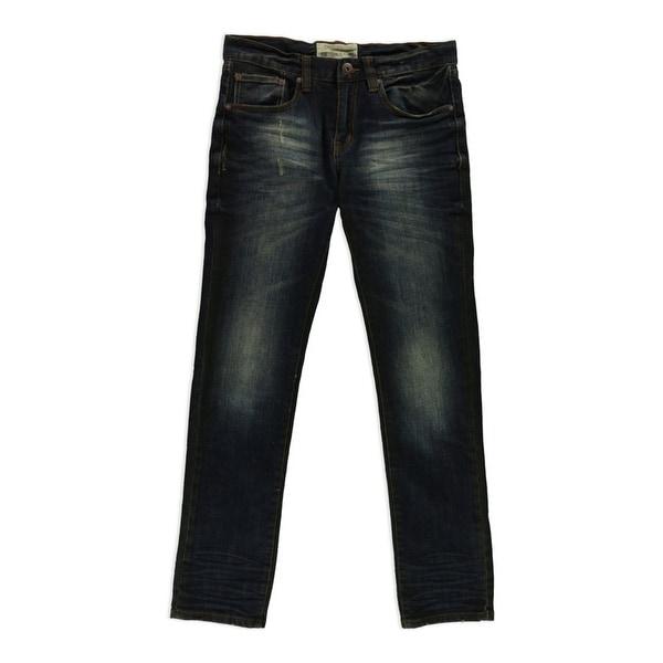 Ecko Unltd. Mens Boxer Wash Skinny Fit Jeans, Blue, 30W x 32L. Opens flyout.