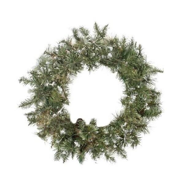 "30"" Snow Mountain Pine Artificial Christmas Wreath - Unlit - green"