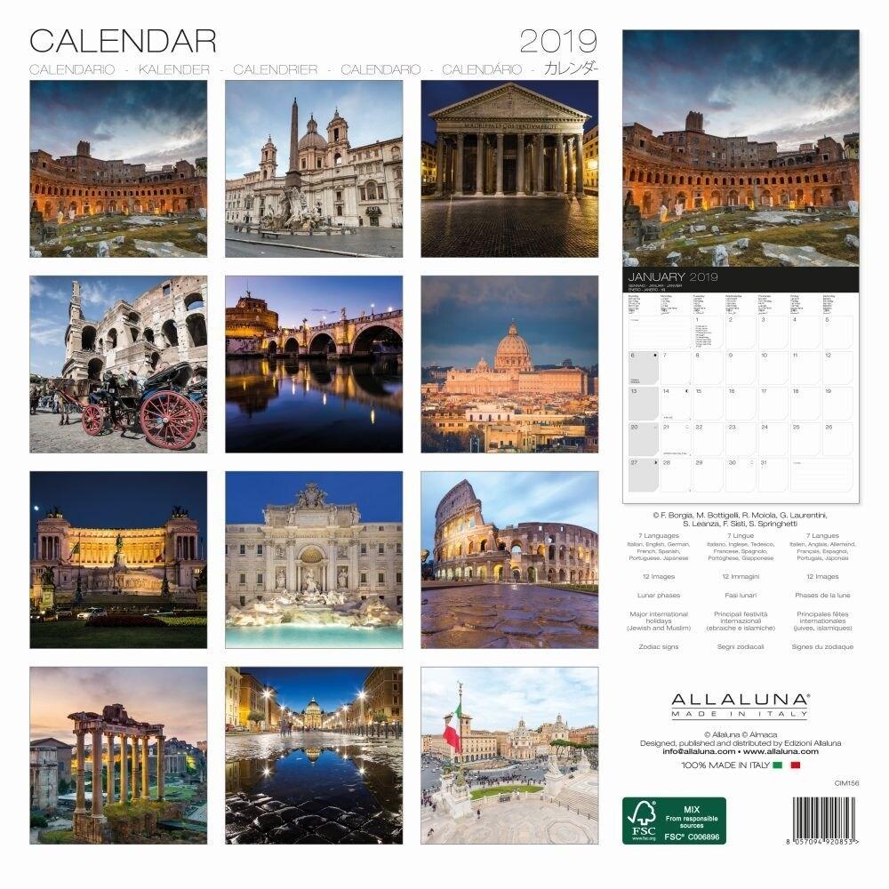Calendario As Roma 2019.2019 Roma Wall Calendar By Alla Luna