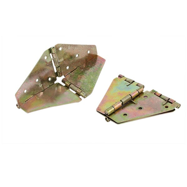 Round Table Metal Butterfly Shape Spring Loaded Folding Leaf Hinge Support  2pcs