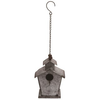 """Link to 20.5"""" Silver and Brown Contemporary Spring Hanging Bird House Similar Items in Decorative Accessories"""