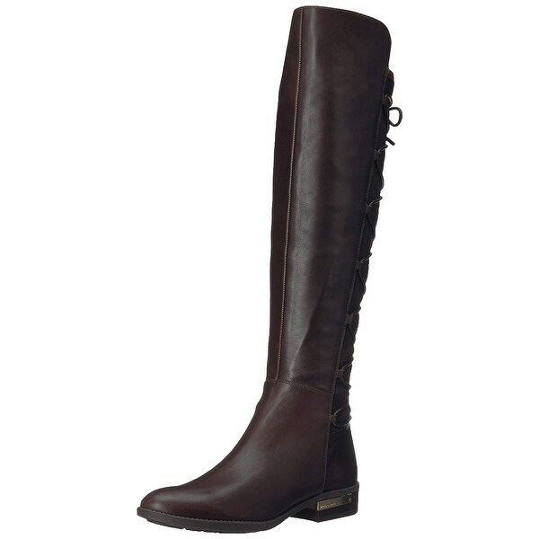 Vince Camuto Womens Parle Leather Closed Toe Knee High Fashion Boots