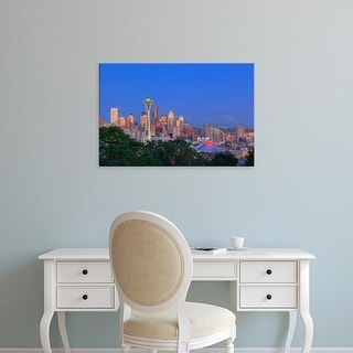 Easy Art Prints Jamie & Judy Wild's 'Seattle skyline from Kerry Park' Premium Canvas Art