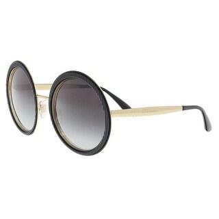 Dolce & Gabbana DG2179 13128G Black Round Sunglasses - 54-23-140