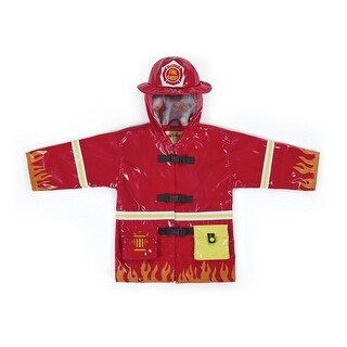 Kidorable Little Boys Red Fireman Pockets Helmet Hooded Rain Coat 2T-6X (More options available)
