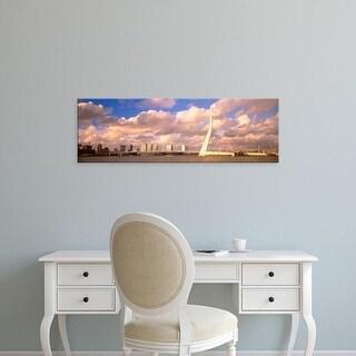 Easy Art Prints Panoramic Images's 'Netherlands, Holland, Rotterdam, Erasmus Bridge' Premium Canvas Art