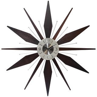 Link to Utopia Starburst Mid-Century Modern Large 30 inch Wall Clock by Infinity Instruments Similar Items in Decorative Accessories