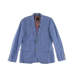 Zara Basic Mens Linen Notch Collar Sportcoat