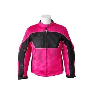 RoadDog Hurricane Mesh Jacket Motorcycle Riding Jacket Pink Women's