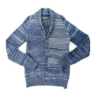 American Rag NEW Blue Mens Size XL Shawl-Collar Button Cardigan Sweater
