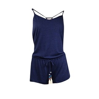 Lucky Brand Women's Lace Inset Back Romper Coverup